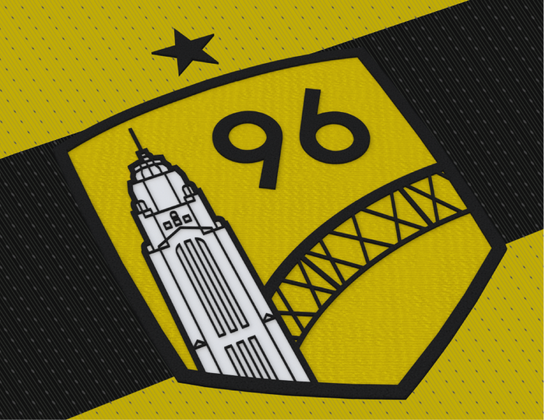 fe2e4fa88 CREST  The main Save The Crew logo. Columbus  skyline. An arch. A familiar  shield with the year that Columbus entered top flight soccer as the  league s ...