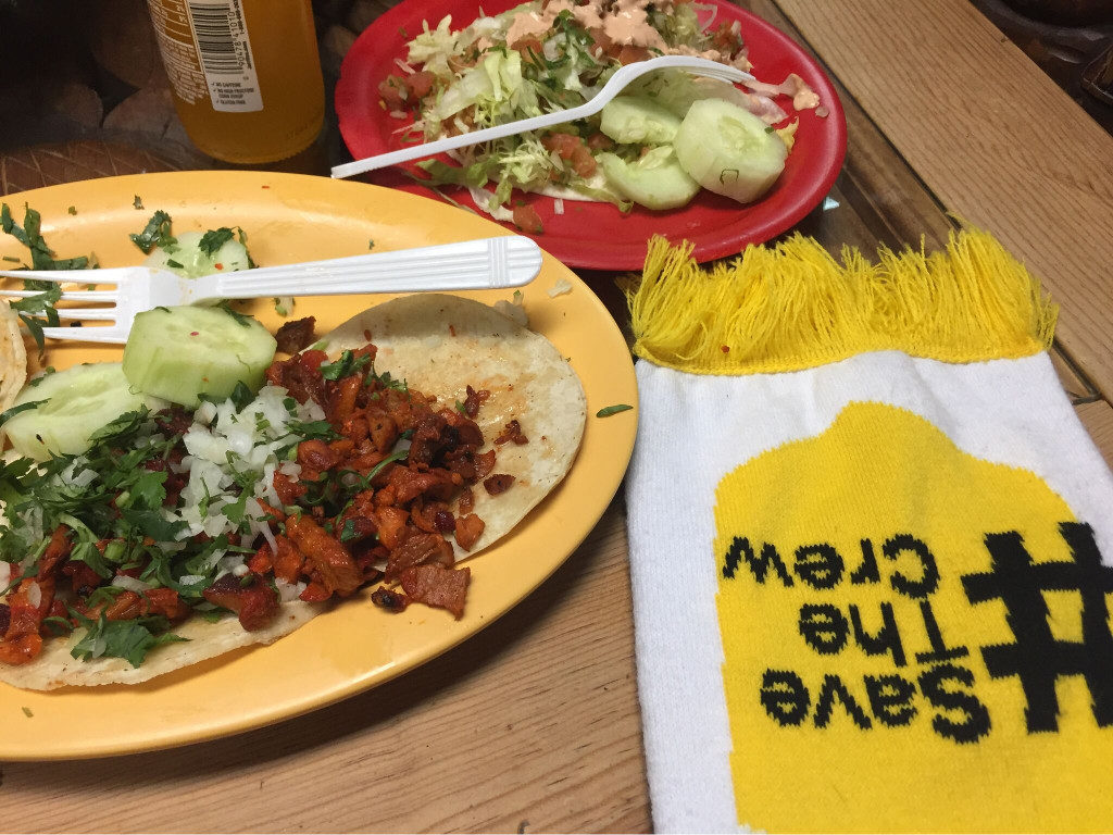#SaveTheCrew with Tacos