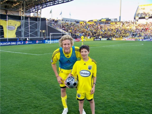 Steven Lenhart at Party on the Pitch