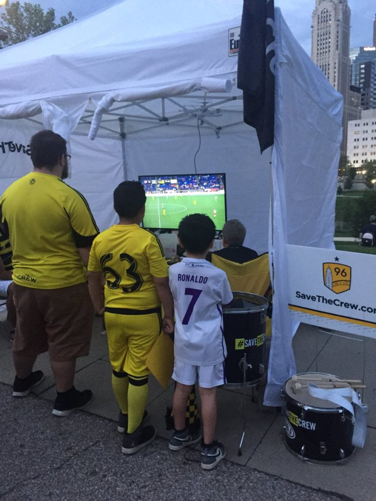 Columbus Taco Fest Kids watching Crew versus Revolution
